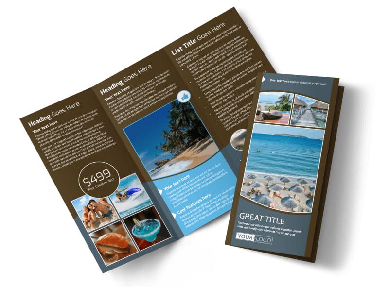 Luxury Ocean Beach Resort Brochure Template MyCreativeShop