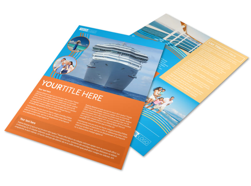 Cruise Ship Vacation Flyer Template MyCreativeShop - Vacation Brochure Template