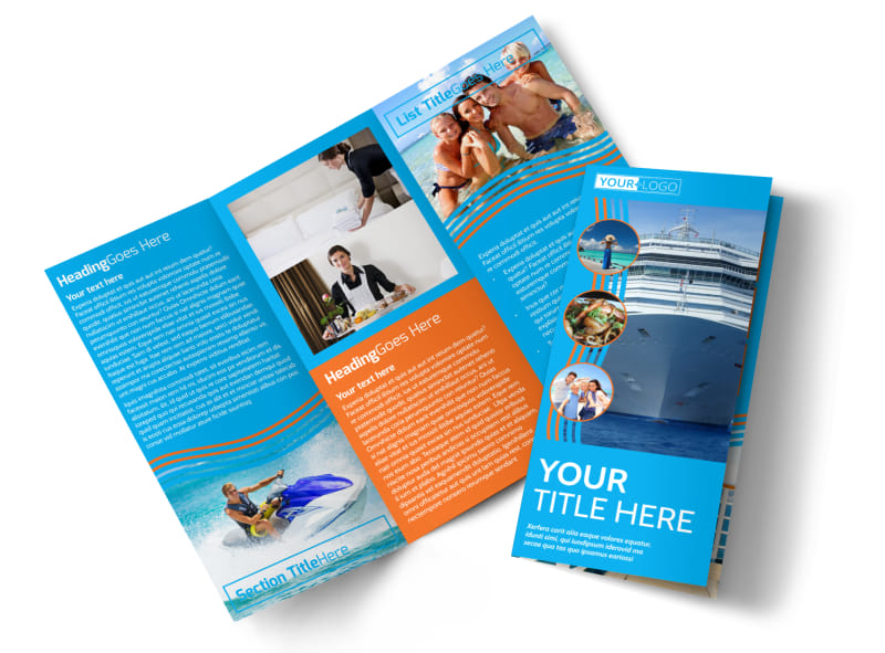 Cruise Ship Vacation Brochure Template MyCreativeShop - Vacation Brochure Template