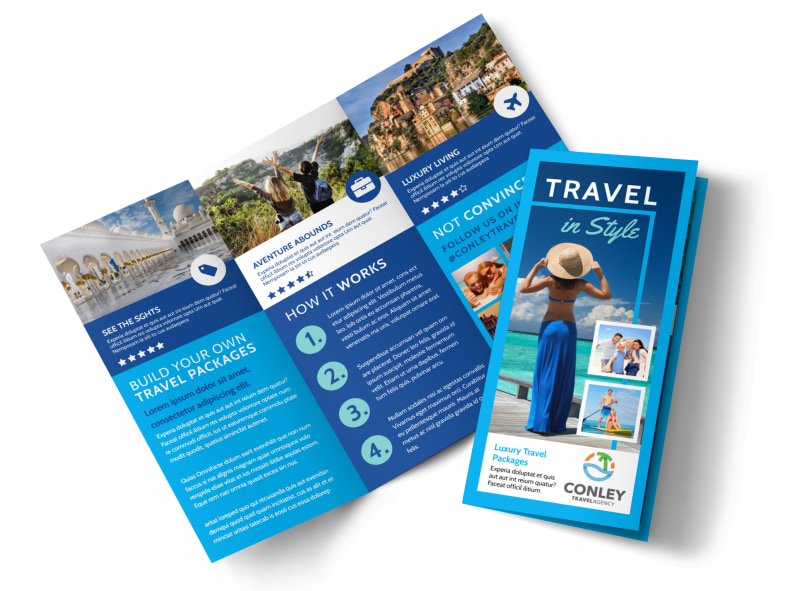 Awesome Travel Agents Brochure Template MyCreativeShop - Vacation Brochure Template
