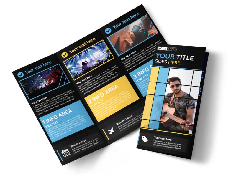 All Day Music Event Brochure Template MyCreativeShop - music brochure