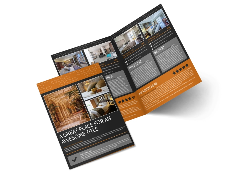 Only The Best Hotels Brochure Template MyCreativeShop