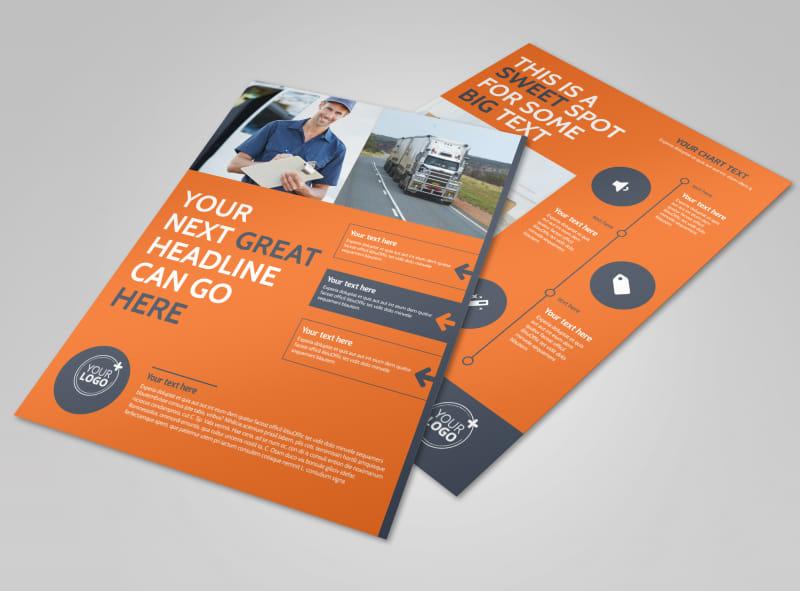 Moving Company Flyer Template MyCreativeShop