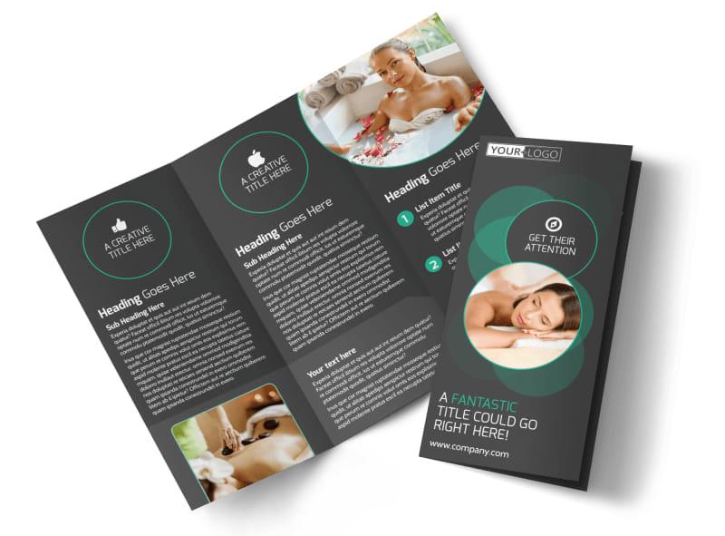 Relaxing Salon  Day Spa Brochure Template MyCreativeShop - spa brochure