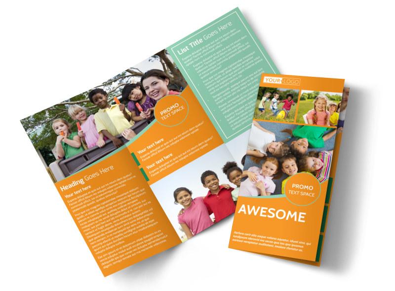 Kids Christian Child Care Brochure Template MyCreativeShop