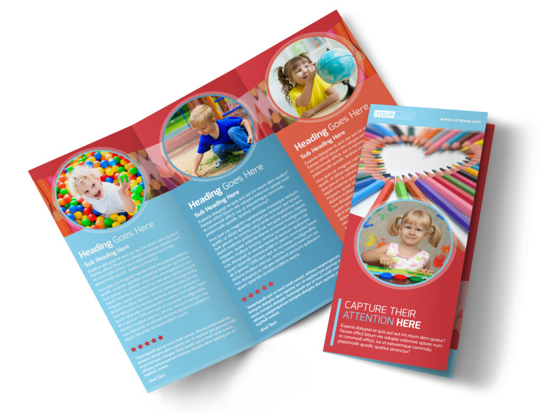 Early Preschool Childcare Brochure Template MyCreativeShop