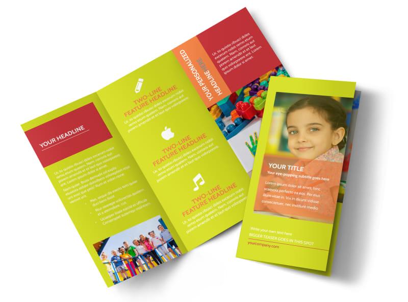 Preschool Childcare Program Brochure Template MyCreativeShop