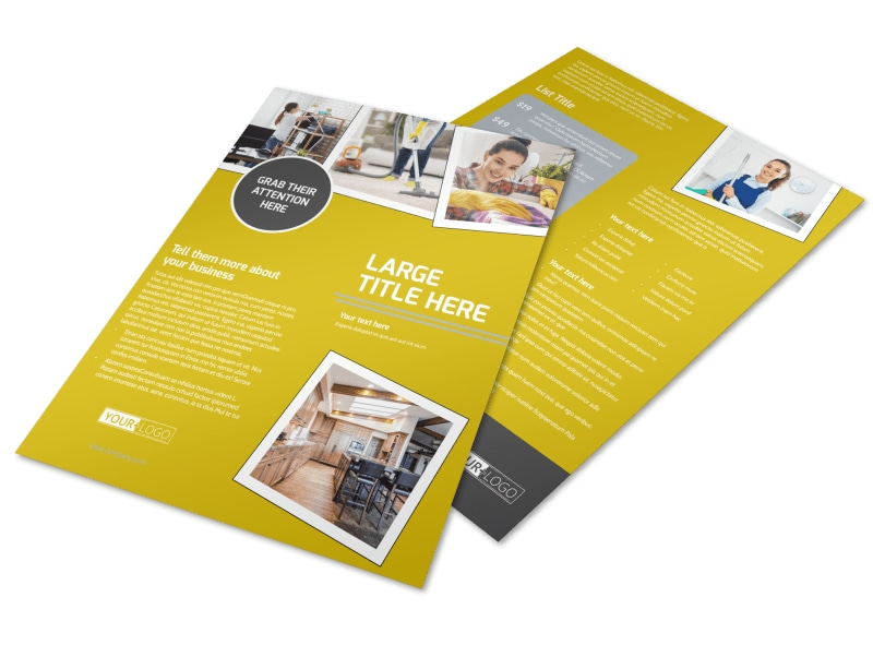Housekeeping Service Flyer Template MyCreativeShop
