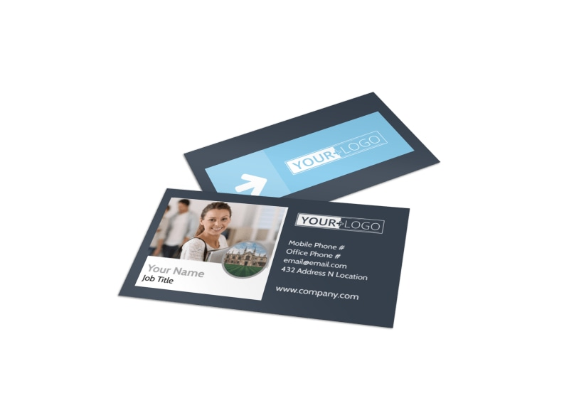 Private College Business Card Template MyCreativeShop - Buisness Card Template
