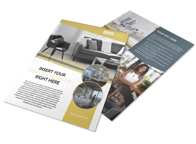 Furniture  Interior Design Flyer Template MyCreativeShop - interior design brochure template
