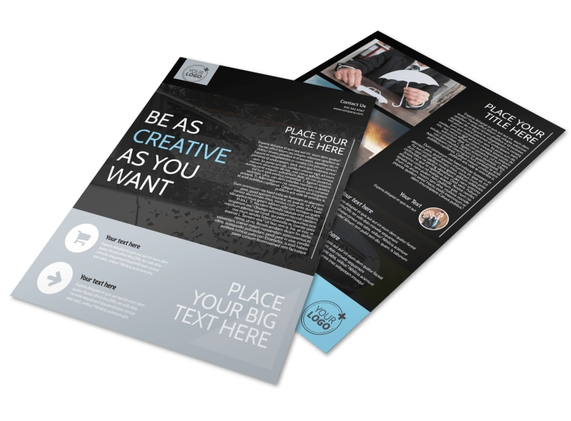 Auto Insurance Flyer Template MyCreativeShop - insurance flyer templates