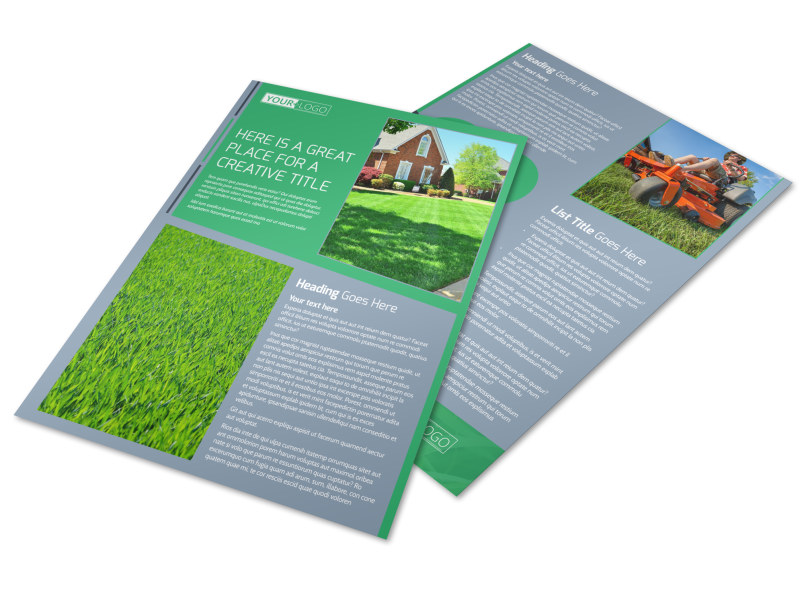 Tailored Lawn Care Flyer Template MyCreativeShop