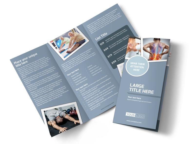 Orthopedics  Sports Medicine Brochure Template MyCreativeShop