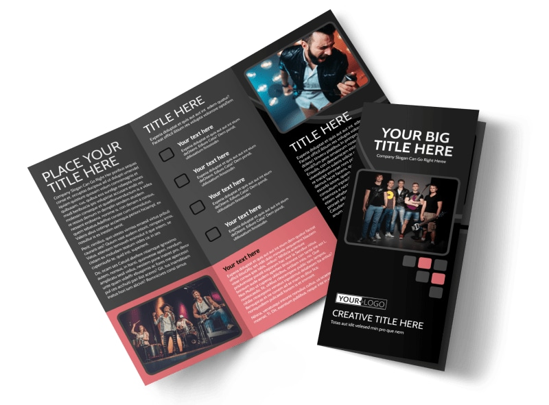 Music Band Brochure Template MyCreativeShop - music brochure