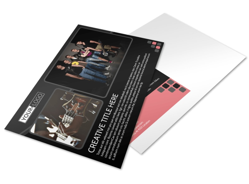 Music Band Postcard Template MyCreativeShop - music paper template