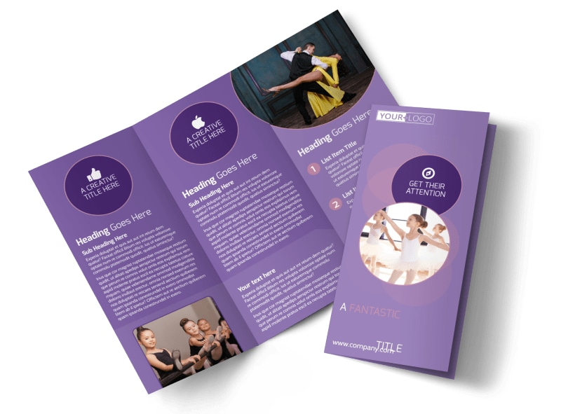 Main Dance Studio Brochure Template MyCreativeShop - studio brochure