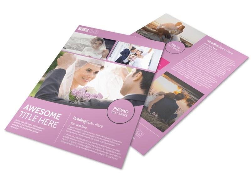 Wedding  Portrait Photography Flyer Template MyCreativeShop - wedding flyer