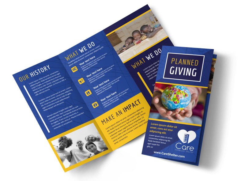 Charity Fundraiser Brochure Template MyCreativeShop