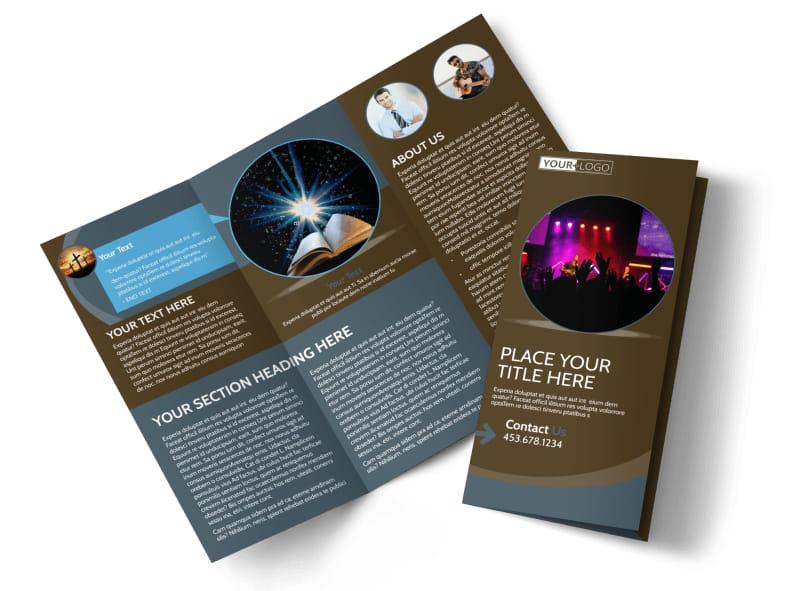 Christian Events  Conferences Brochure Template MyCreativeShop