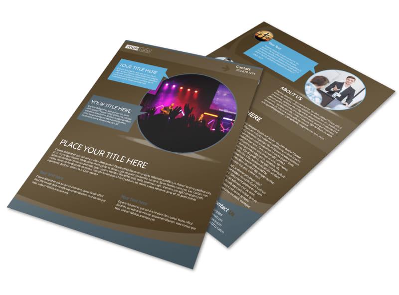 Christian Events  Conferences Flyer Template MyCreativeShop