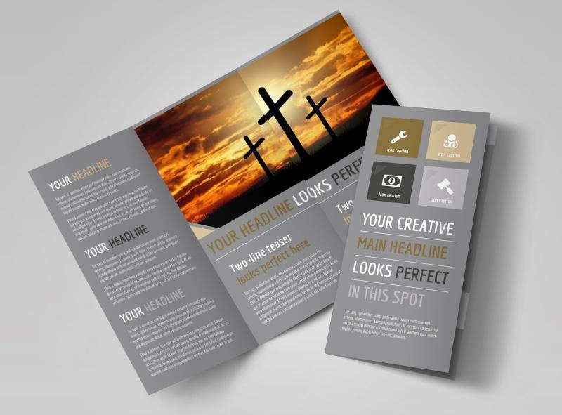 Church Informational Brochure Template MyCreativeShop