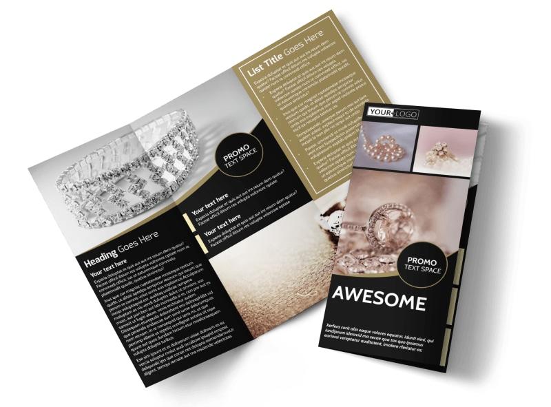 Elegant Jewelry Brochure Template MyCreativeShop