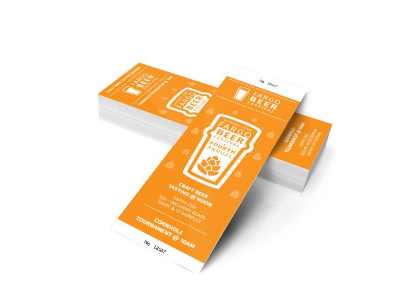 Fargo Beer Festival Ticket Template MyCreativeShop - food tickets template