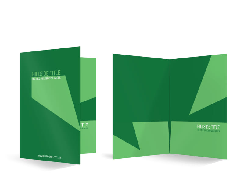 Hillside Title Company Pocket Folder Template MyCreativeShop