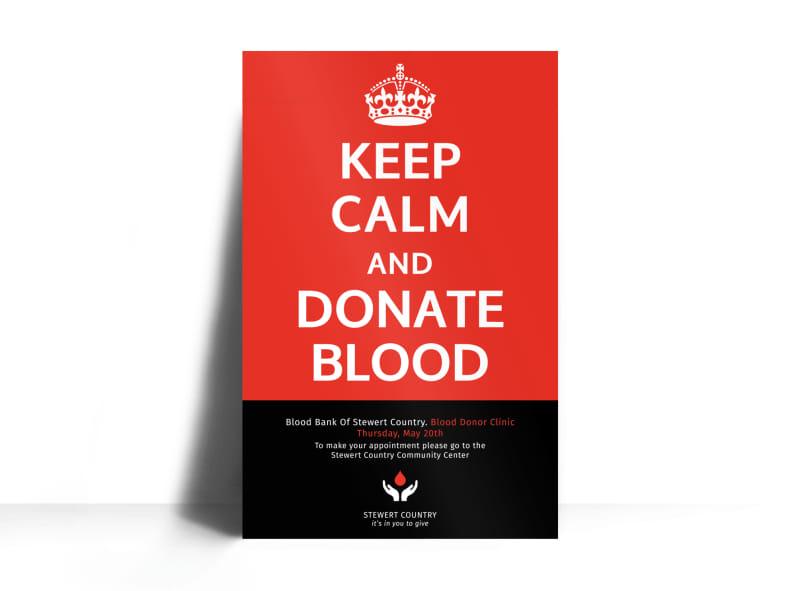 Blood Donation Poster Template MyCreativeShop