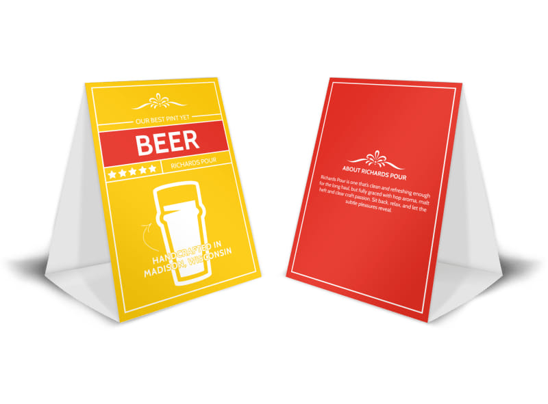 Richards Pour Beer Table Tent Template MyCreativeShop - table tent template