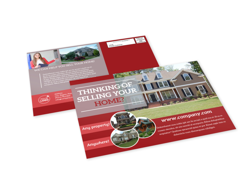Real Estate Thinking Of Selling EDDM Postcard Template MyCreativeShop