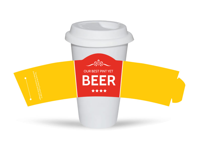 Richards Pour Beer Cup Sleeve Template Mycreativeshop