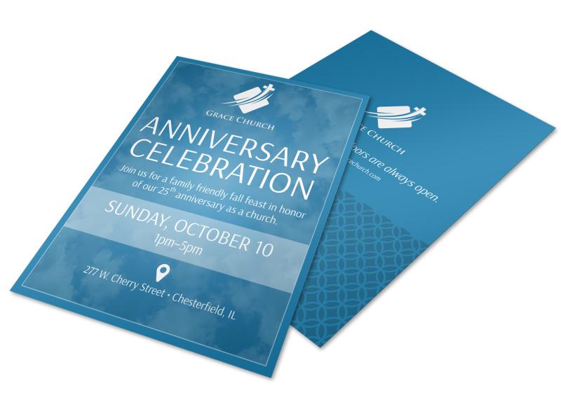 Church Anniversary Celebration Flyer Template MyCreativeShop - anniversary flyer