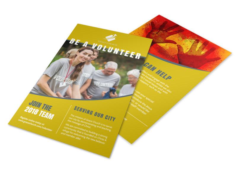 Be A Volunteer Church Flyer Template MyCreativeShop