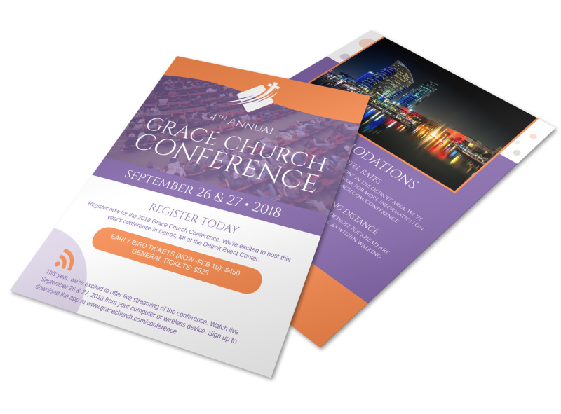 4th Annual Grace Church Conference Flyer Template MyCreativeShop