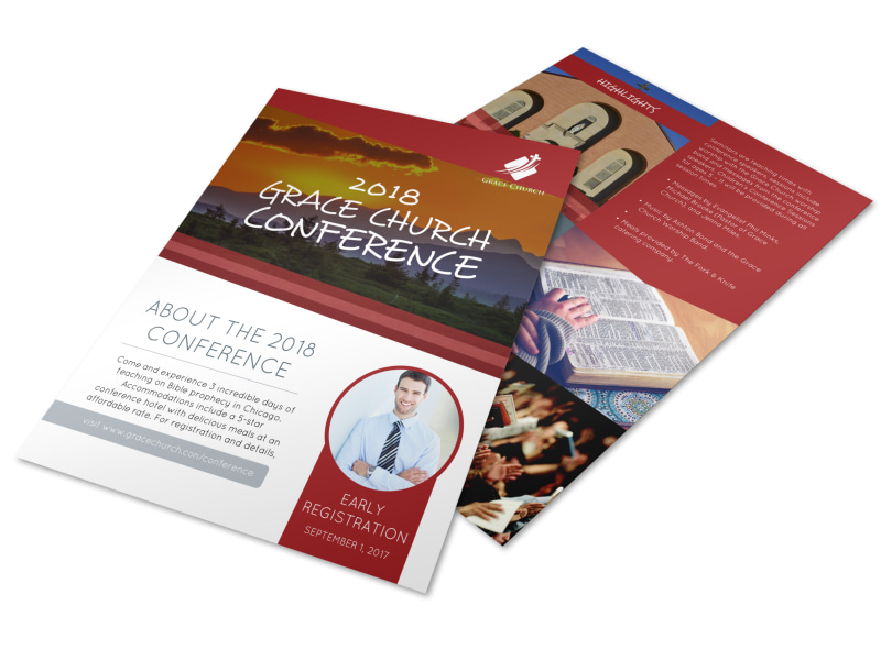 About Our Church Conference Flyer Template MyCreativeShop
