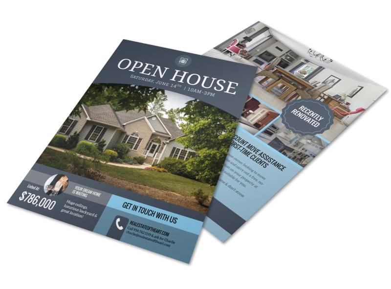 Dream Home Real Estate Open House Flyer Template MyCreativeShop