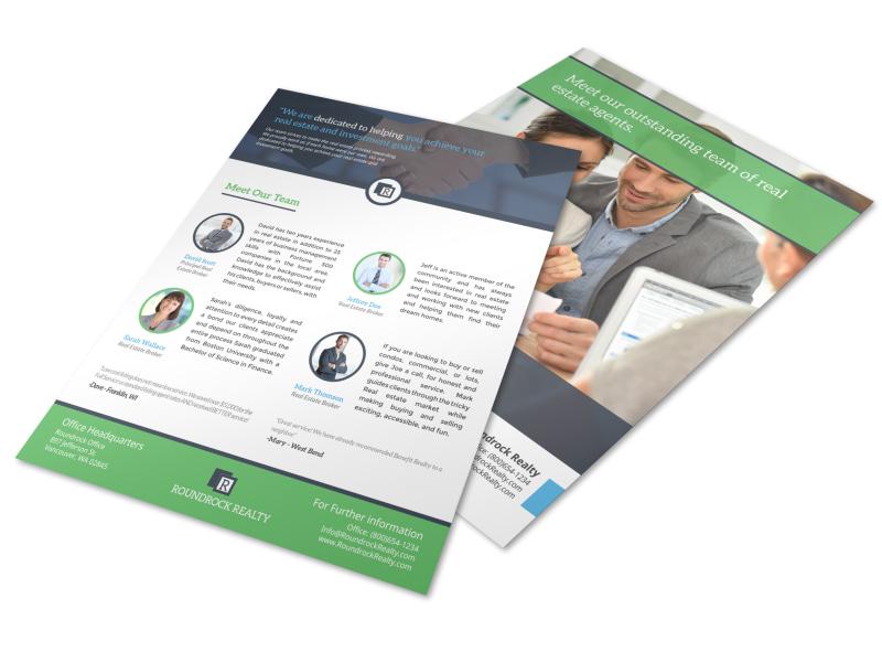 Corporate Real Estate Meet Our Team Flyer Template MyCreativeShop