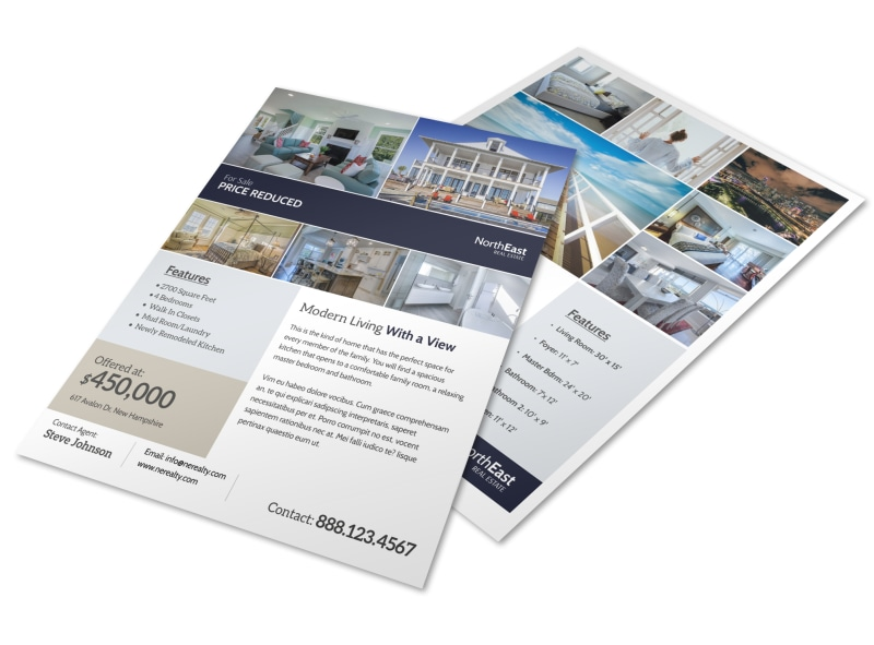 Real Estate Price Reduced Flyer Template MyCreativeShop