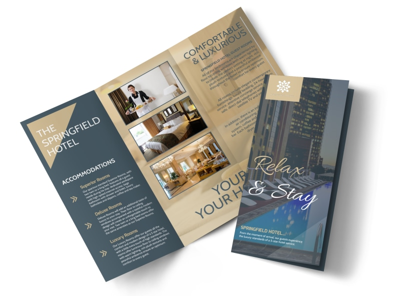 Relax  Stay Hotel Tri-Fold Brochure Template MyCreativeShop - hotel brochure template