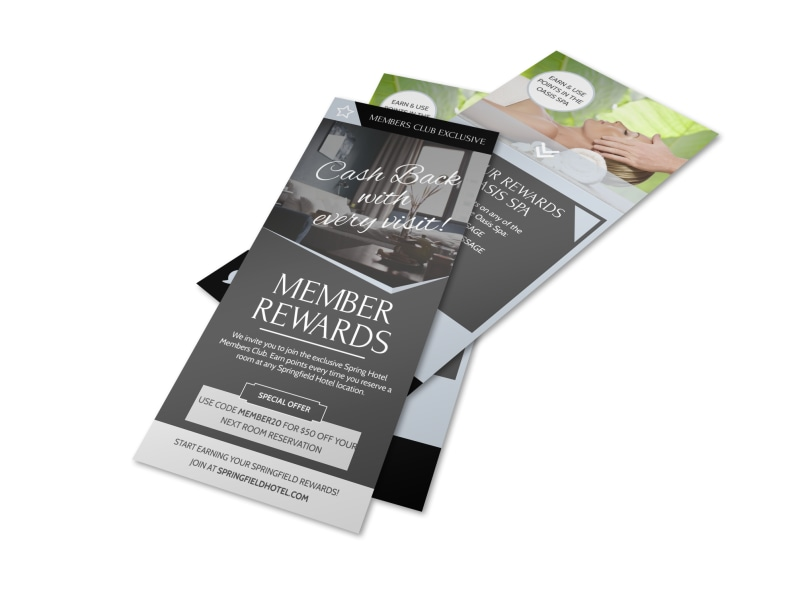 Hotel Member Rewards Program Flyer Template MyCreativeShop - hotel brochure template