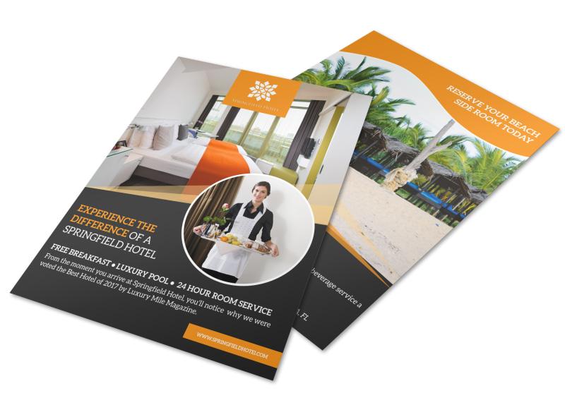 Design Custom Hotel Flyers Online MyCreativeShop