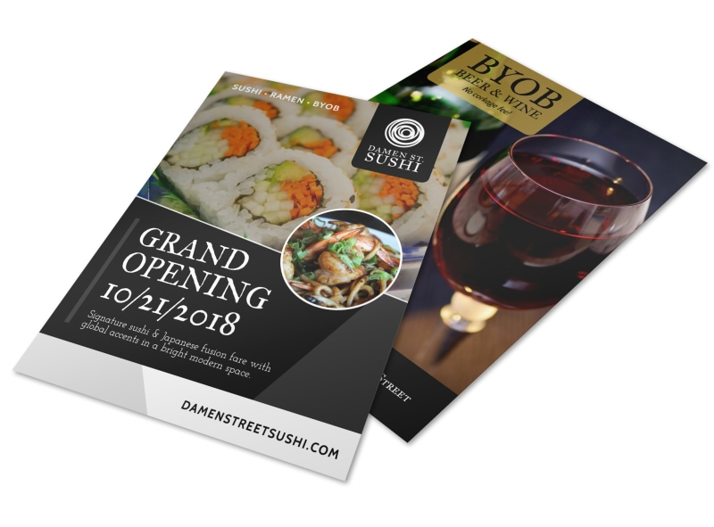 Grand Opening Restaurant Flyer Template MyCreativeShop - Grand Opening Flyer