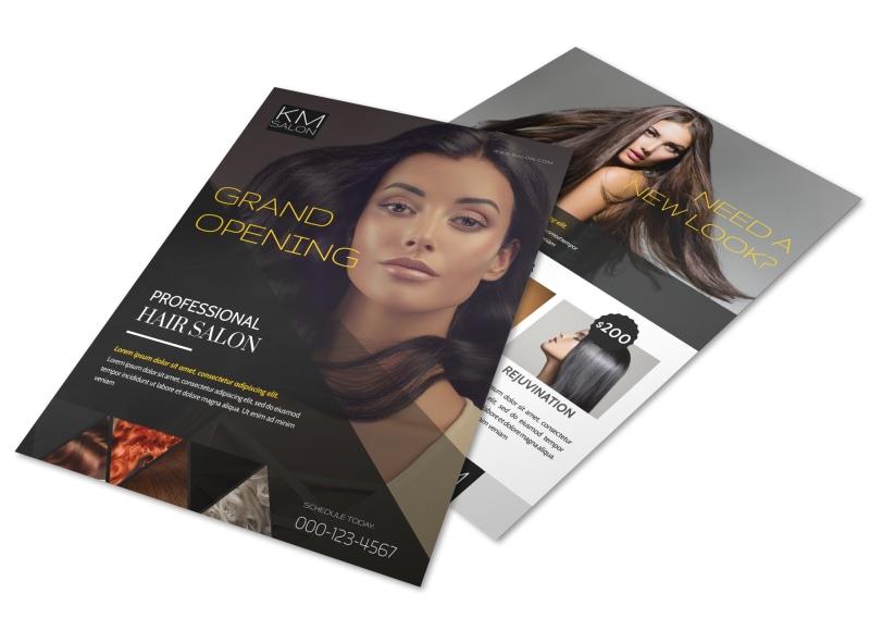 Professional Hair Salon Grand Opening Flyer Template MyCreativeShop - grand opening flyer template