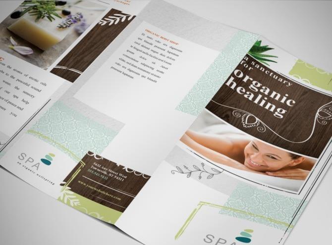 free massage brochure template - spa brochure template
