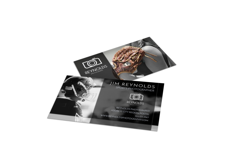 Action Sports Photography Business Card Template MyCreativeShop