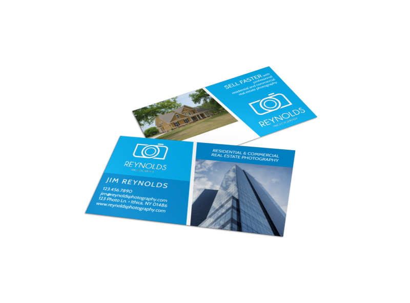 Real Estate Photography Business Card Template MyCreativeShop