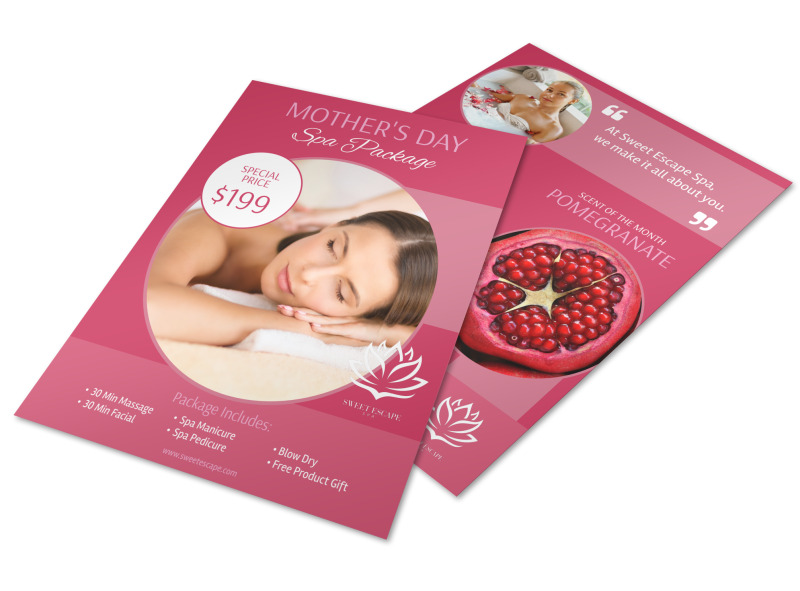 Mothers Day Spa Specials Flyer Template MyCreativeShop - mothers day flyer