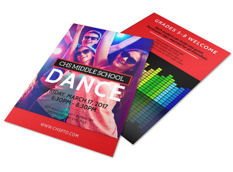 Middle School Dance Flyer Template MyCreativeShop