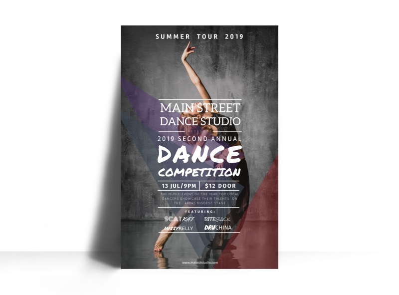 Main Street Dance Competition Poster Template MyCreativeShop - competition flyer template